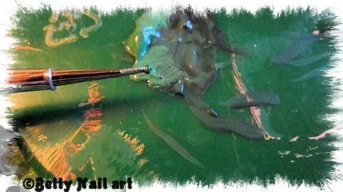 Nail art saint Patrick D'Axelle