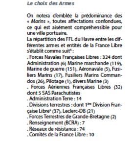 * MARS 2017 -  Mémoire de 500 Français Libres pour le 500e anniversaire de la création du Havre