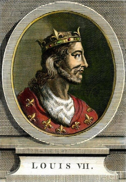 Représentation de Louis VII. Gravure du XIXe siècle