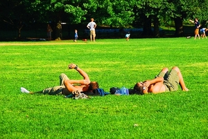 books park sunbathing tannnig