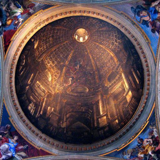 Trompe-l'œil d'Andrea Pozzo (Église Saint-Ignace-de-Loyola de Rome).