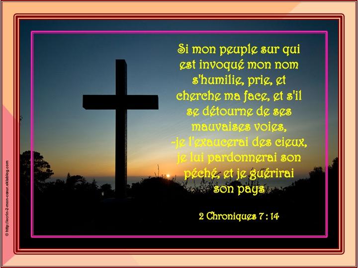 Je l'exaucerai des cieux - 2 Chroniques 7 : 14