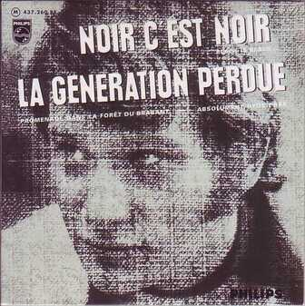 Les Frenchy SINGLéS n°4 : Johnny Hallyday - Noir c'est noir (1966)
