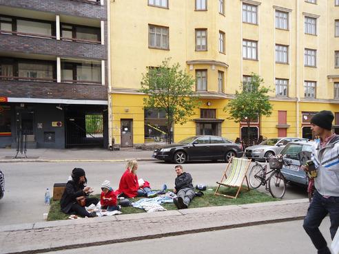 une place de stationnement pour camper