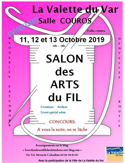 Lei Roucas au Salon des Arts du Fil à La Valette du Var
