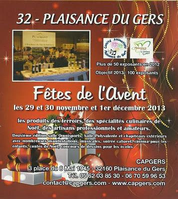 fêtes de l'Avent à Plaisance du Gers