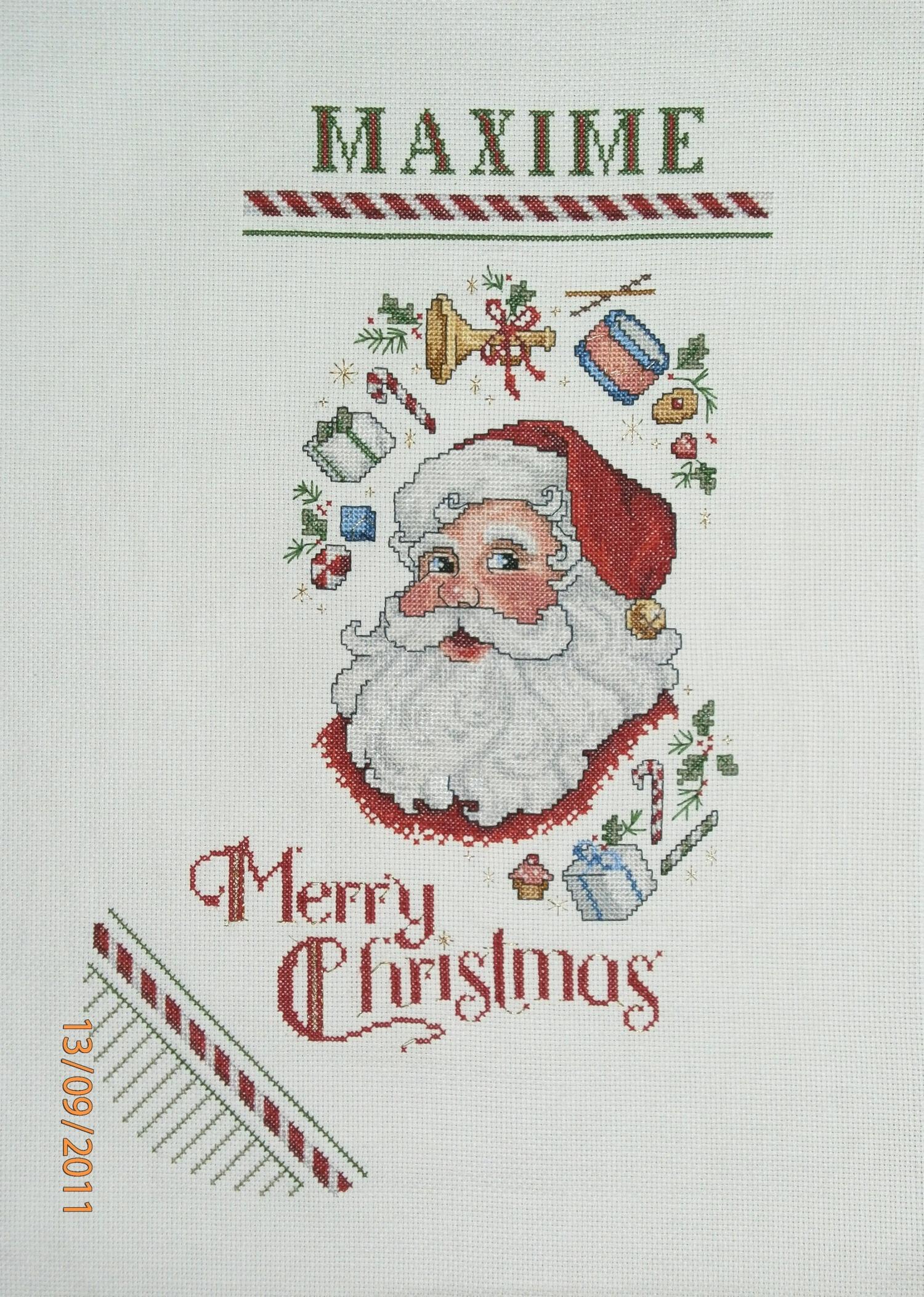 Point De Croix Botte P Re No L Merry Christmas 65 Les