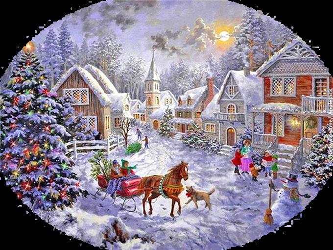 Mes Tubes Paysages Noël Vintage
