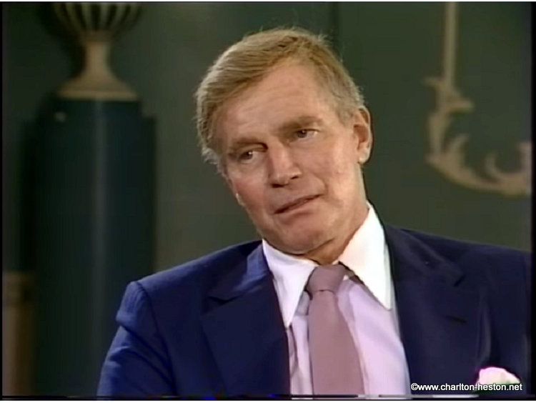 "UNE INTERVIEW DE CHARLTON HESTON  - Emission ""Afternoon Plus 4"" - 1983"
