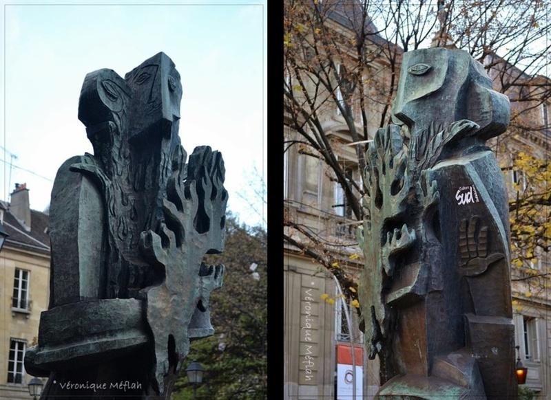 Le Prométhée (1956) de Ossip Zadkine, Place Saint-Germain des Prés, Paris