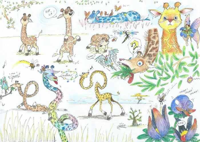 Petite planche de girafes :)