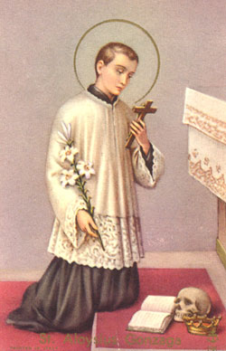 Saint Louis de Gonzague. Jésuite († 1591)