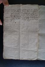 1583. Rolle et menu de la recept . Sergente Janne Bazin.