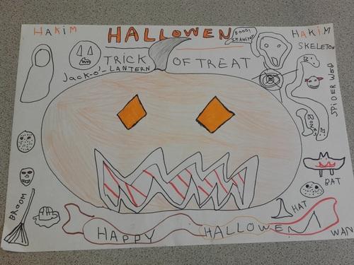 La classe des CM2a fête Halloween