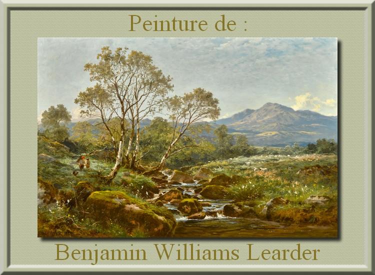 Peinture de : Benjamin Williams Learder