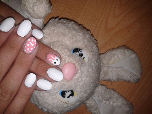 Nail Art Lapin ♥