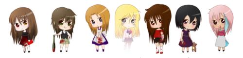 Akane, Chiaki, Michiko, Louana, Arina, Ireimon & Katara {JCV}