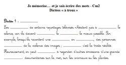 Orthographe en CM1-CM2