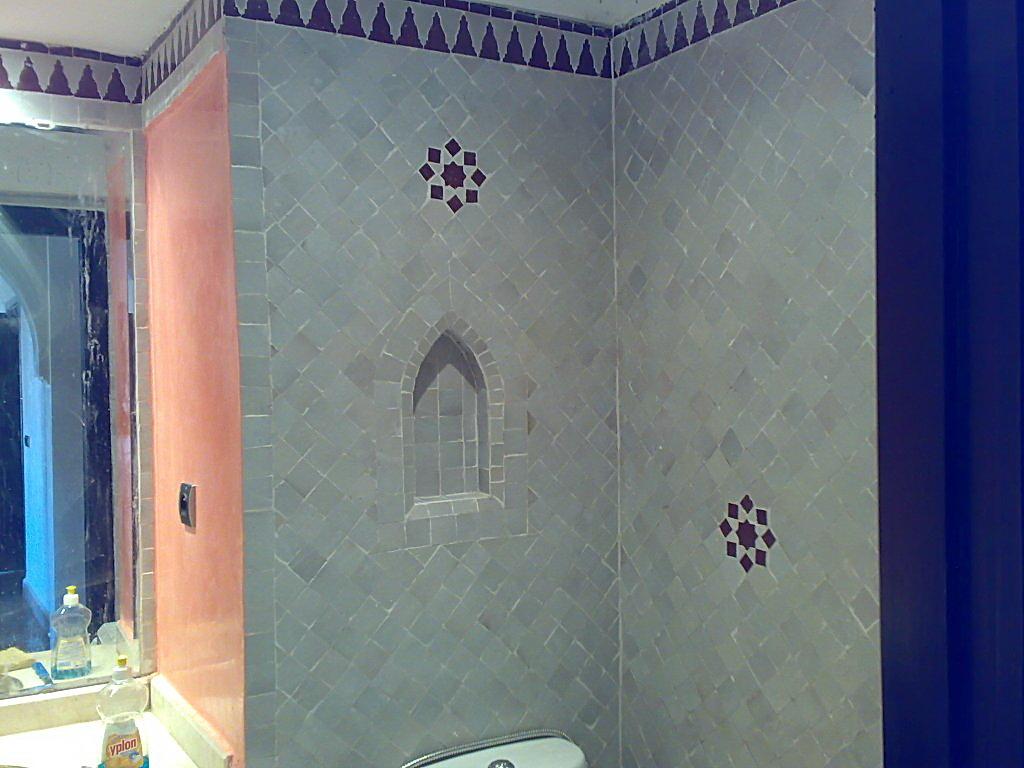 Salle de bain avec zellige beldi - Modele de salle de bain marocaine ...