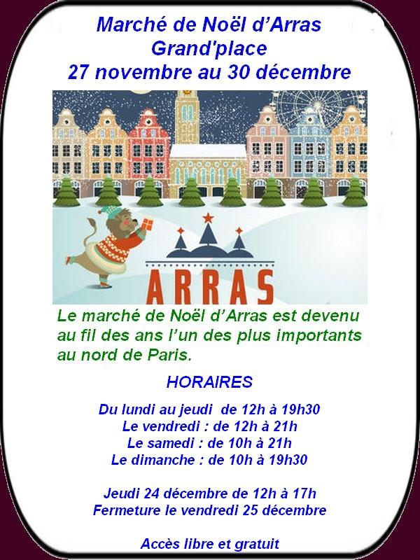 Le marché de Noël est ouvert à Arras ce vendredi 27 novembre.