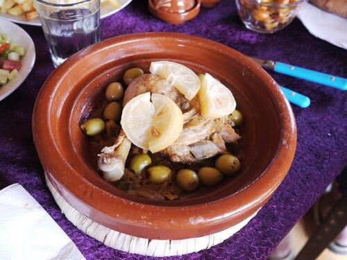 Poulet aux citrons et olives