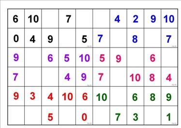 loto nombres 0 a 10 la maternelle de lila