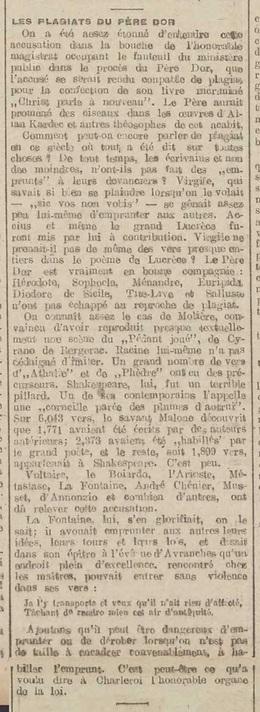 Père Dor - Plagiat (La Belgique, 24 novembre 1916)