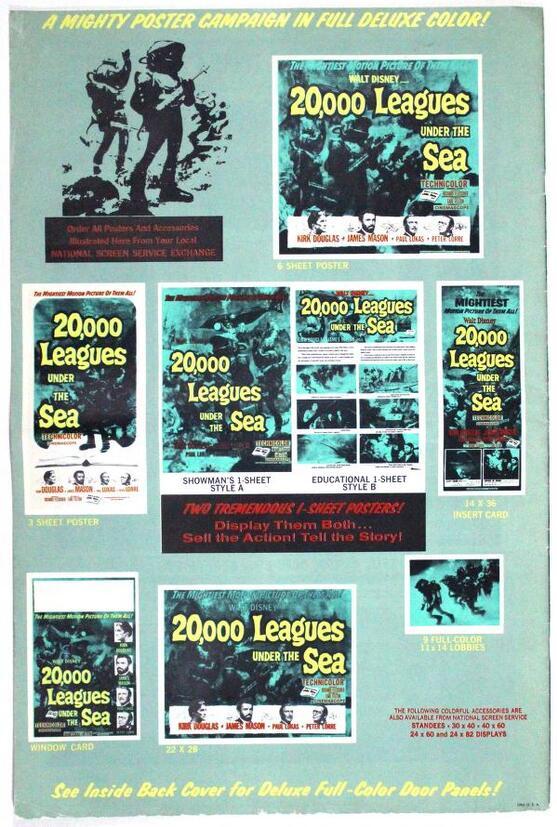 20 000 LIEUES SOUS LES MERS - REDDITION 1963 PRESSBOOK 1963