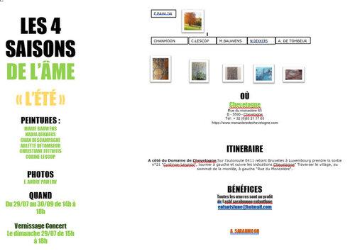 prochaine expo à Chevetogne!