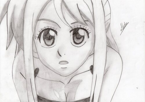 Lucy Heartfilia (Fairy Tail) ~ by ¤ Elodie - Manga O Ekaki ¤