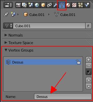 Nommer le groupe de vertices