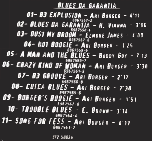 "Ari Borger : CD "" Blues Da Garantia "" ST2 Records ST2 50024 [ BR ]"