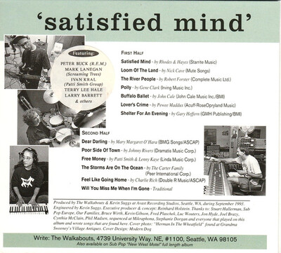 Dégustation agréable : The Walkabouts - Satisfied Mind (1993)