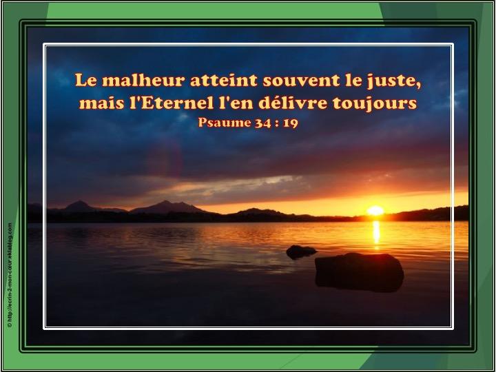 L'Eternel l'en délivre toujours - Psaumes 34 : 19