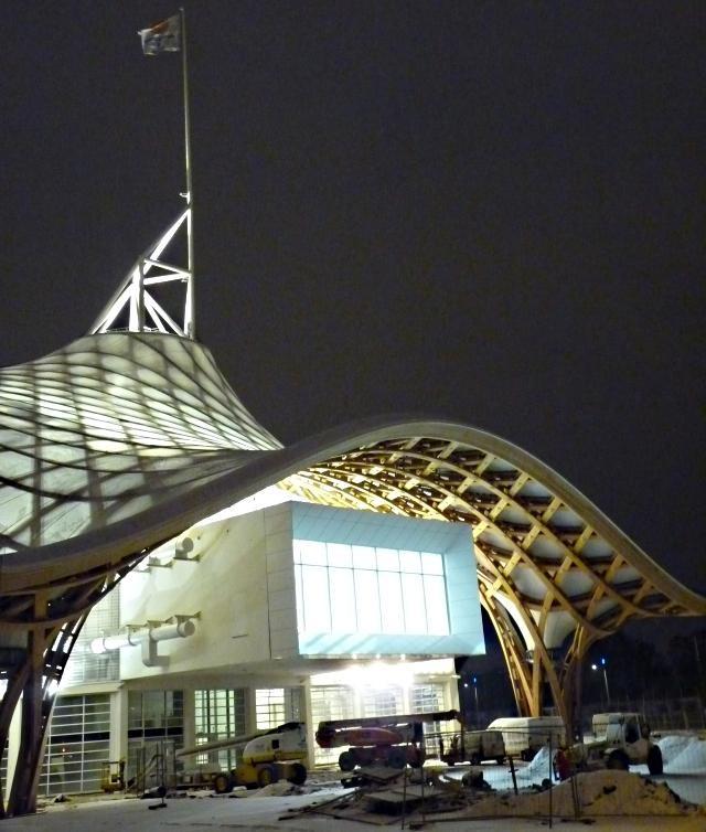 Centre Pompidou Metz neige nuit 5 20 12 09