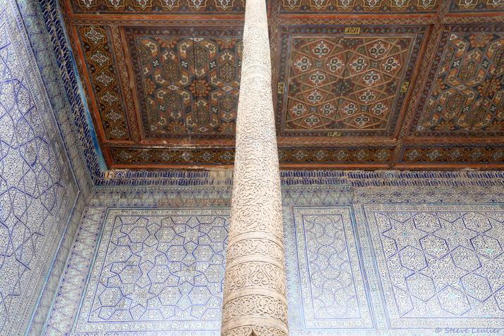 Kunya Ark : la salle du trône, Khiva