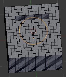 Diminuer la taille du cercle pour qu'il entre dans le trou carré