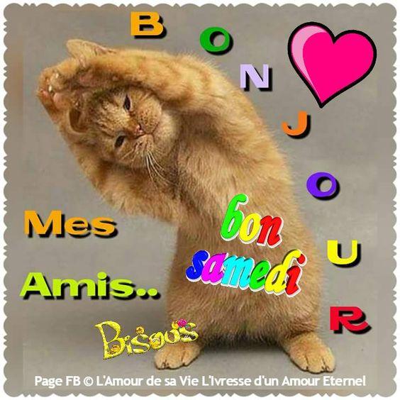 Bonjour mes amis... Bon Samedi, Bisous #samedi