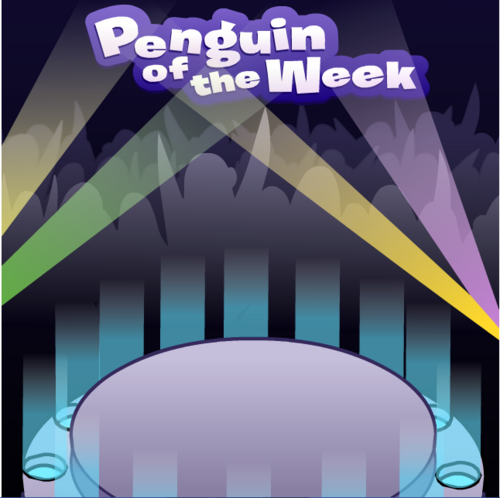 """Décor """"penguin of the week"""""""