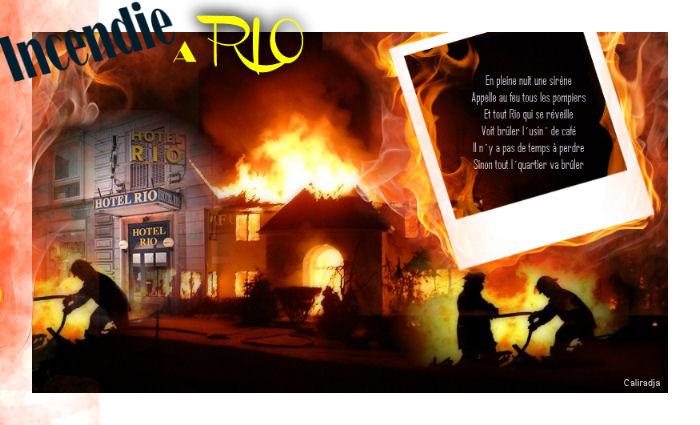 Incendie à Rio