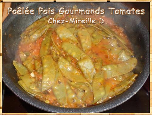 Poêlée de Pois Gourmands aux Tomates