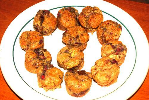 Muffins à la framboise vegan