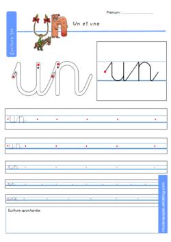 Dossier d'écriture en lettres cursives