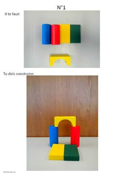 * Les cubes en bois