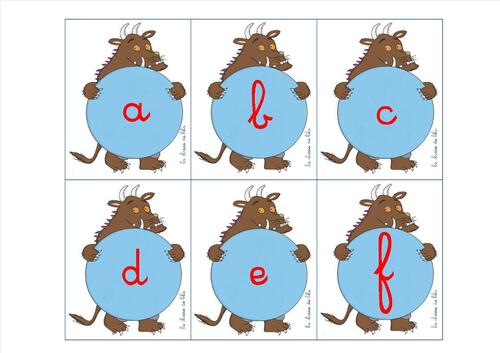apprendre l'alphabet avec Gruffalo