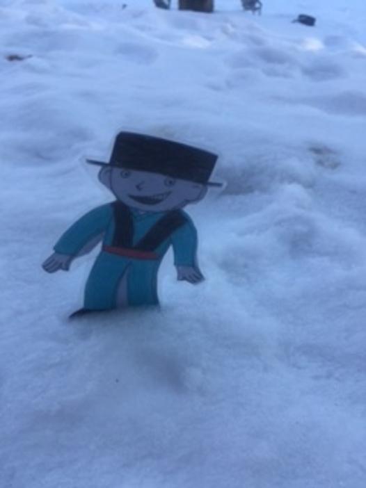 Titouan aplati sait desormais qu'il y a de la neige au Liban