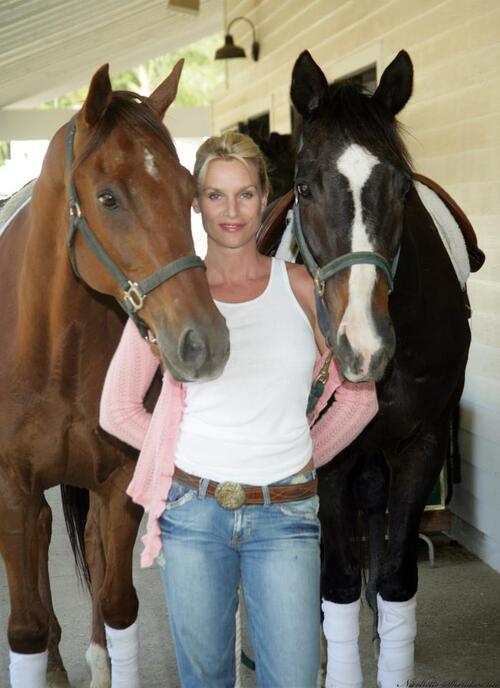 Nicollette Sheridan et les animaux.