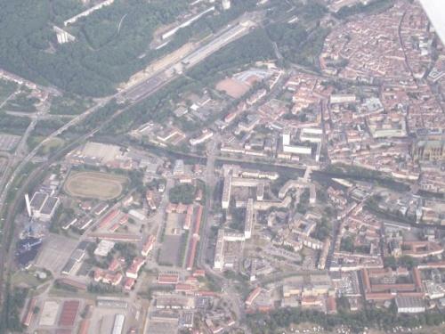 Metz vue du ciel (14 août 2010)