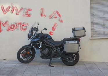 balade vers Nice, à l'occasion du Festival du film Moto