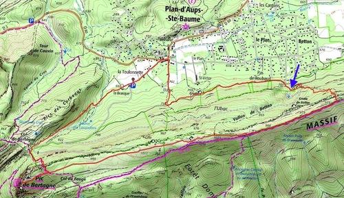 Plan d'Aups, Pic de Bertagne